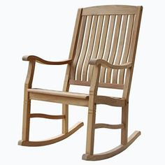 The teak rocking chair - the friendly piece of furniture in our house