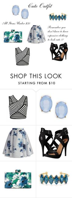 """Under $50 Outfit #6"" by jadaramseyy on Polyvore featuring Cara, Chicwish, Michael Antonio and Elizabeth Cole"