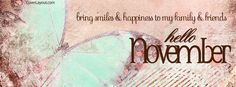 Bring Smiles and Happiness Hello November Facebook Cover coverlayout.com
