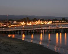 Santa Cruz Beach Boardwalk at dusk. Sun, surf, and sand. One of the Bay Area's best seaside attractions.