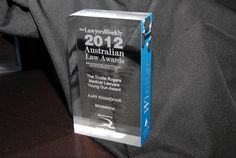 2012 Lawyers Weekly Law Awards trophy