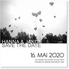 Hochzeitskarte  Save the Date -  Ausgestanzt