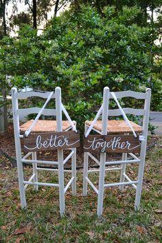 Better Together Sign | Backyard Wedding | Wood Wedding Sign | Little River Designs