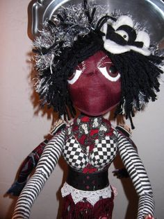 close up of the female side of the siamese twin poppit art doll! woohoooo! so glad angielou made this for me!