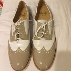 Wing tips for women Toupee and white wing tips. Amalfi by Rangoni Shoes Flats & Loafers