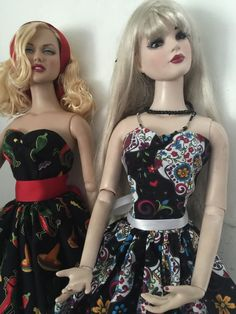 "Doll Dresses For 22"" Tonner Dolls Marilyn Monore Chiles Sugar Skulls #handmade"