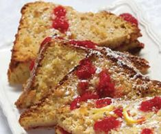 Raspberry Lemon Stuffed French Toast - You can prepare this Gluten-Free Raspberry Lemon Stuffed French Toast a day ahead and reheat just before eating. This recipe can be made with egg replacement.