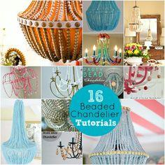 diy bead chandelier tutorial \\  #chandelier #beadchandelier #diychandelier