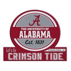 Alabama Crimson Tide Tailgate Peel & Stick Decal, Multicolor