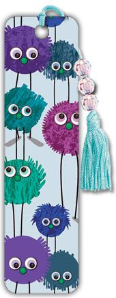 Writing Prompt: Describe your favorite bookmark. Fuzzy Monsters Bookmark