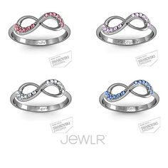 What's your birthstone? Personalize your own ring by adding your birthstone! #ring #jewelry #gift #birthstone #love