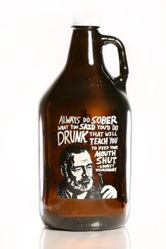 Haus Of Growlers, Ernest Hemingway, Growlers, Growler, Beer, Craft Beer, Quote, Famous Quotes, Beer Quote