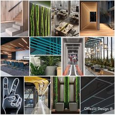 Der Urban Eco Stil vereint natürliche Materialien wie Holz, Glas, Beton und Grünflächen mit indirekten Lichtquellen und sorgt so für eine frische, angenehme Arbeitsatmosphäre. New Work, Urban, Home Architect, Corning Glass, Timber Wood