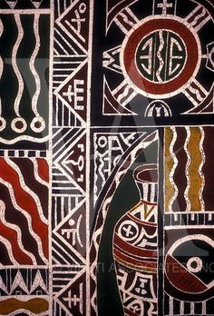 Batik at National Gallery, Harare, Harare Province, Zimbabwe, Africa African Textiles, African Fabric, African Prints, African Art Projects, Kunst Der Aborigines, Ethno Design, Motifs Textiles, Textile Patterns, Tribal Patterns
