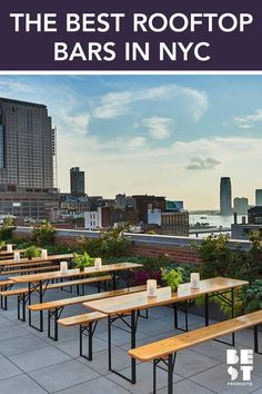 Whether you're a tourist in search of the perfect Manhattan skyline view or a local looking for a fun outdoor terrace to hang with friends, here are the best NYC rooftop bars in every neighborhood. Bar Furniture, Outdoor Furniture Sets, Rooftop Bars Nyc, Pergola, Barcelona, Outdoor Fun, Outdoor Decor, Manhattan Skyline, Fun Cocktails