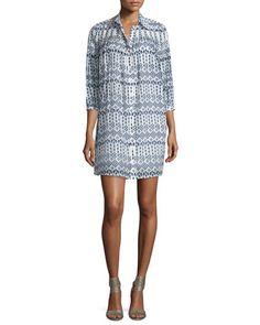TC6Y0 Diane von Furstenberg Rylie Diamond Dots Shirtdress