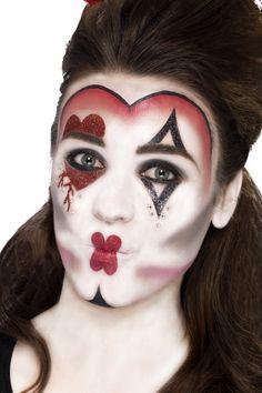 Herzkönigin Make-Up Set rot-weiss-schwarz , günstige Faschings  Make-up bei Karneval Megastore, der größte Karneval und Faschings Kostüm- und Partyartikel Online Shop Europas!