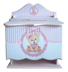 Decoupage, Baby Kit, Baby Shower, Toy Boxes, Toy Chest, Storage Chest, Toys, Crafts, Furniture