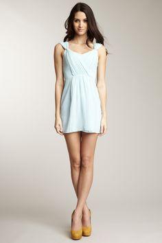 pale blue Keepsake dress with details