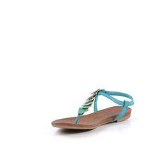 Triangle sandalen - blauw // sandalen // SACHA