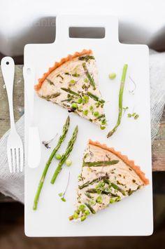 Asparagus & Peas Goat Cheese Quiche