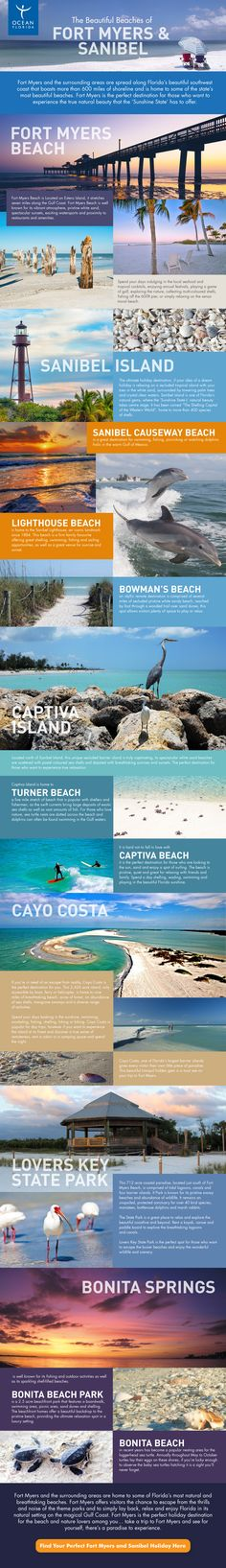 The county of Fort Myers sits on Florida's mainland, however it is within a short driving distance of Florida's southwest barrier islands, that are home to 600 miles of breathtaking white sandy beaches – perfect for shelling, surfing and sunbathing. The best beaches in the Fort Myers area are found on the islands of Captiva, …