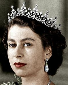 Girls of Great Britian and Ireland Tiara without base, worn by HM Queen Elizabeth II of Great Britian