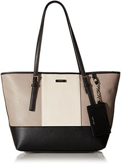 Nine West Ava Tote Bag Structured tote bag featuring double shoulder straps  and contrast lining Footed bottom Center zip compartment fe38722a34283