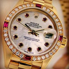 Rolex with rubies