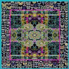 Yaelle amazing printed silk scarf