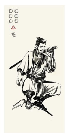 Akira Kurosawa's Seven Samurai - Kikuchiyo by Greg Ruth