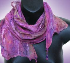 One of these days I am going to take this class and learn how to make these scarves! Nancy Dorian Nuno Scarf