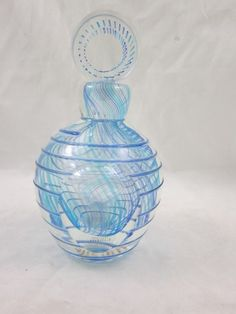 Beautiful Italian Murano Art Glass Perfume Bottle MINT!