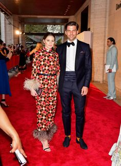 Olivia Palermo and Johannes Huebl arrive to the 2018 New York City Ballet Spring Gala at Lincoln Center on May 3 2018 in New York City