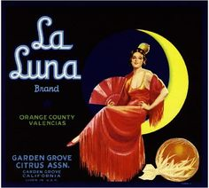 Garden Grove La Luna Senorita Orange Citrus Crate Label Art Print
