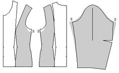 How to alter a sleeve pattern:  Making armscye larger or smaller... Leenas.com: PatternMaker Tutorial Web Site