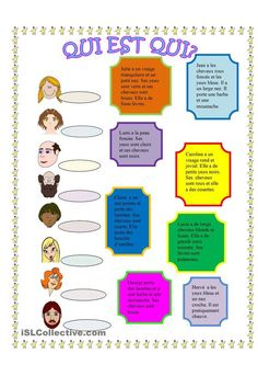 Printing Ideas Useful Learn French Videos Link French Teaching Resources, Teaching French, How To Speak French, Learn French, Vintage Printable, French Adjectives, French Verbs, French Worksheets, Material Didático