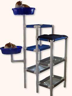 Feline Snoozers PVC Cat Tower