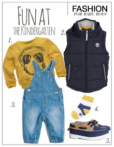 Rise and shine! Today is a new sunny day and it is time to get up. Are you preparing the family and need some outfit inspiration for your little one to have fun at the kindergarten? Mix this season's must-have dungarees with this yellow sweater, bodywarmer and cute boat shoes.