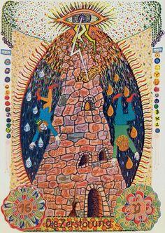 Zigeuner Gypsy Tarot also known as the Gipsy Tarot Tsigane - The Tower