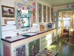 decoupage kitchen cabinet - I do love me some decoupage   Wreaths ...