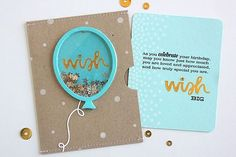 Wish Shaker Pocket Card by Heather Nichols for Papertrey Ink (June 2015)