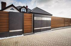 XCEL Ogrodzenia | Day and Night | Nowoczesne Ogrodzenia | Lublin House Gate Design, Fence Design, Compound Wall, Front Fence, Barn House Plans, Modern Fence, Backyard Garden Design, Outdoor Gardens, Patio
