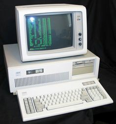 Original IBM PC AT 286 with a single half height 5.25' floppy drive. It also comes with a HDD.