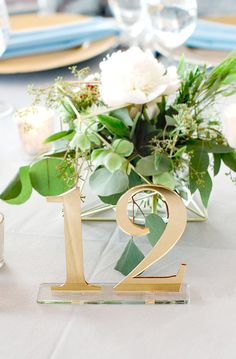 Acrylic Table Numbers for Wedding Party or Event by ZCreateDesign