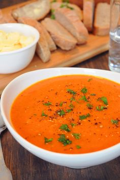 Sweet Potato & Roasted Red Pepper Soup