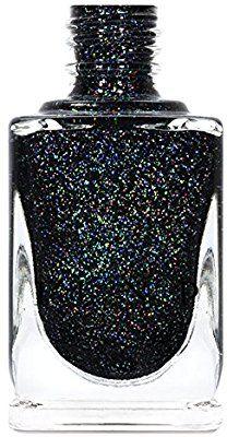 3e9386164628 Amazon.com   ILNP Cityscape - TRUE Black Holographic Jelly Nail Polish