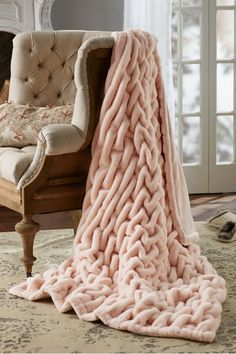 Luxury Home Interior A must have for your home! I own 3 of these La Parisienne Faux Fur Throws from Soft Surroundings- check out how I style them around my house. The Pink Shell colorway is new and perfect for snuggling. Discount Home Decor, Home Decor Outlet, Soft Surroundings, Ikea, Pink Faux Fur, Diy Home, Faux Fur Throw, Romantic Homes, Cozy Blankets