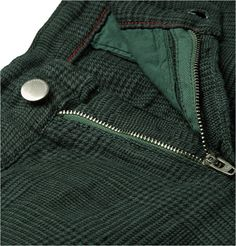 Massimo Alba Evergreen Prince Of Wales Checked Linen Shorts