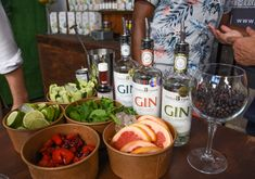 A Gin Bar by with all the craft gin garnishes Gin Garnish, Craft Gin, Gin Bar, Distillery, Vodka Bottle, African, Drinks, Blog, Beverages